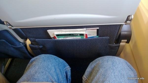 CSA Czech Airlines - CSA Czeskie Linie Lotnicze - Airbus A319 - OK-MEK - OK617 - Klasa ekonomiczna - odstęp między kolanami a poprzedzającym fotelem - kwiecień 2013