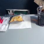 CSA Czech Airlines - CSA Czeskie Linie Lotnicze - Airbus A319 - OK-MEK - OK617 - Klasa ekonomiczna - jedzenie w samolocie - kwiecień 2013