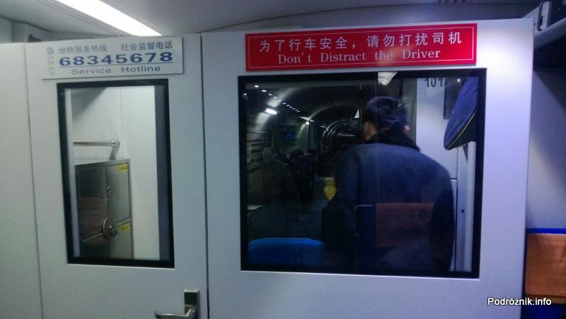 Chiny - Pekin - Airport Express w tunelu pod Pekinem - kwiecień 2013
