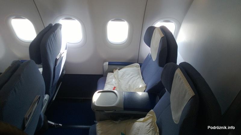 China Southern - Airbus 321 - CZ310 - B-6317 - Klasa pierwsza - First Class - odstęp między fotelami - kwiecień 2013