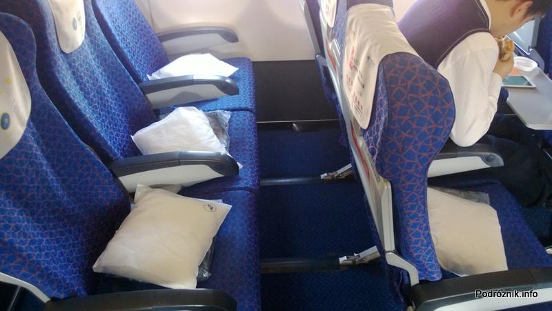 China Southern - Airbus 321 - CZ310 - B-6317 - Klasa ekonomiczna plus - Premium Economy Class - odstęp między fotelami - kwiecień 2013