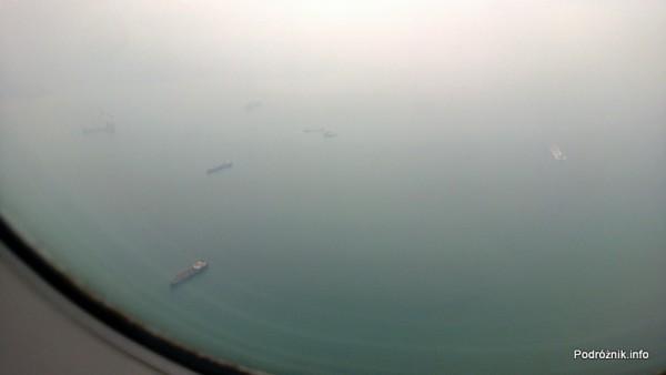 Hongkong - widok z okna niedługo przed lądowaniem - kwiecień 2013