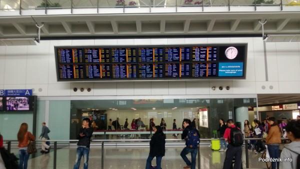 Lotnisko w Hongkongu - Hong Kong International Airport - tablica przylotów - kwiecień 2013