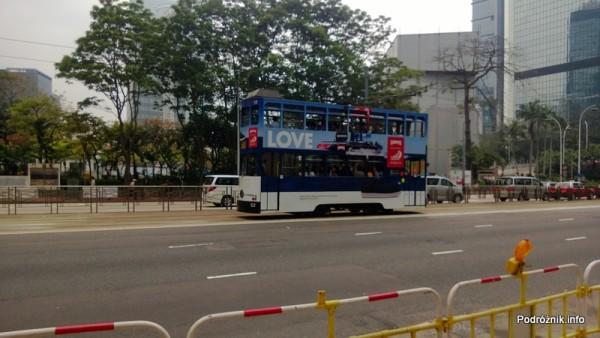 Chiny - Hongkong  - piętrowy tramwaj - kwiecień 2013