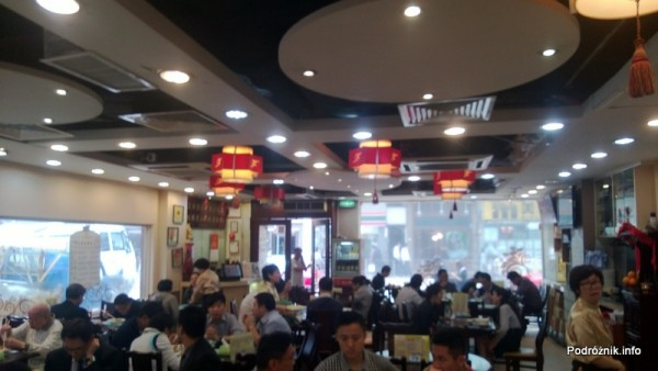 Chiny - Hongkong  - restauracja w porze lunchu - kwiecień 2013