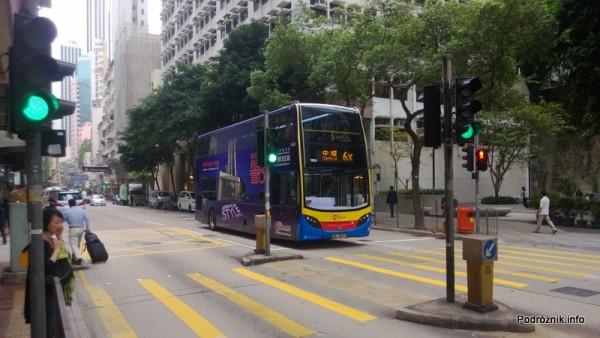 Chiny - Hongkong  - piętrowy autobus - kwiecień 2013