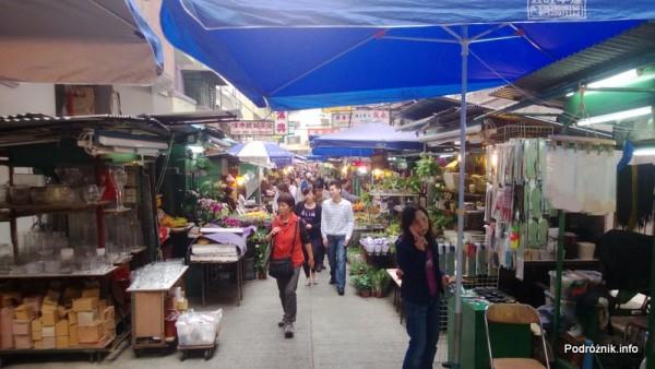 Chiny - Hongkong  - bazar na jednej z małych uliczek - kwiecień 2013