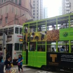 Chiny - Hongkong - dwa piętrowe tramwaje - kwiecień 2013