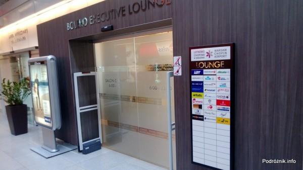 Polska - Warszawa - Lotnisko Chopina - Salonik Bolero Executive Lounge - wejście - czerwiec 2013
