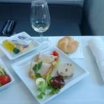 Polskie Linie Lotnicze LOT - Boeing 787 Dreamliner (SP-LRA) - Klasa Biznes (Elite Club) - jedzenie w samolocie - przystawka - czerwiec 2013