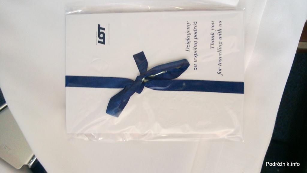 Polskie Linie Lotnicze LOT - Boeing 787 Dreamliner (SP-LRA) - Klasa Biznes (Elite Club) - upominkowy zestaw kartek pocztowych - czerwiec 2013