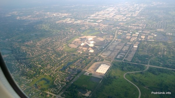 USA - przedmieścia Chicago z lotu ptaka - Stratford Square Mall - czerwiec 2013