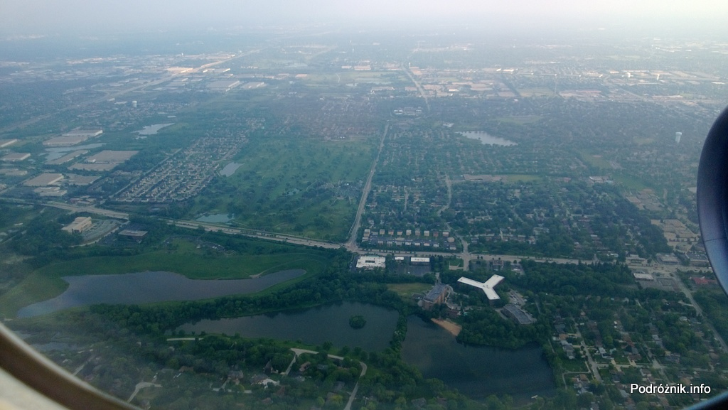 USA - przedmieścia Chicago z lotu ptaka - Lake Street Reserve County Forest Preserve - czerwiec 2013