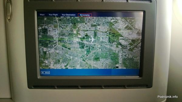 Polskie Linie Lotnicze LOT - Boeing 787 Dreamliner (SP-LRA) - Klasa Biznes (Elite Club) - pozycja samolotu przed samym lądowaniem w Chicago - czerwiec 2013
