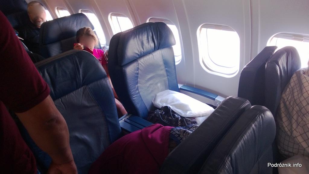 Delta Airlines - McDonnell Douglas MD-88 - N904DL - DL1018 - fotele w klasie pierwszej (First Class) - czerwiec 2013
