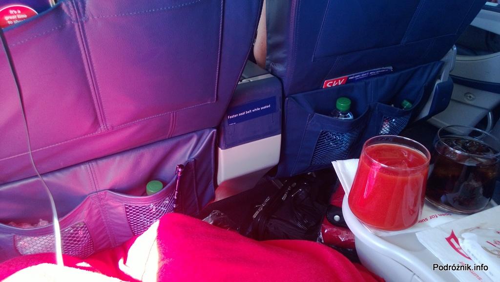 Delta Airlines - McDonnell Douglas MD-88 - N904DL - DL1018 - drink powitalny klasie pierwszej (First Class) - czerwiec 2013