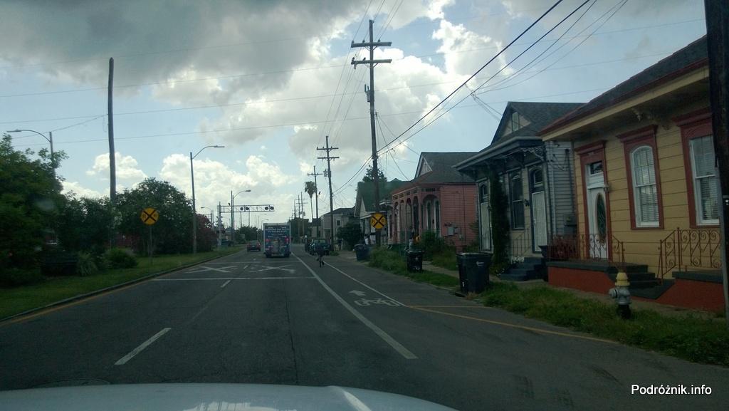 USA - Nowy Orlean - część wschodnia - ścieżka rowerowa - czerwiec 2013