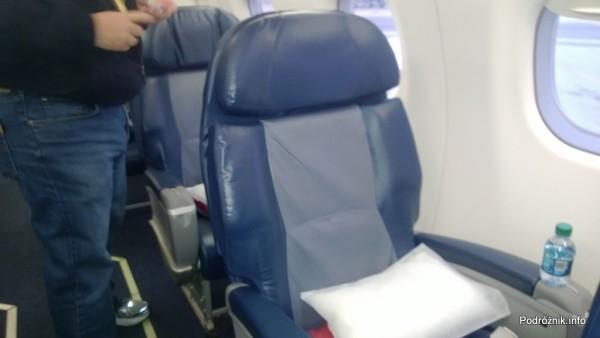 Delta Air Lines - Embraer 175 - N624CZ - DL5701 - Klasa Pierwsza (First Class) - fotel - czerwiec 2013