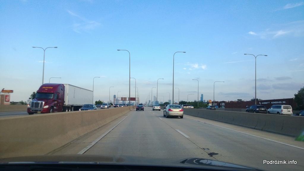 USA - wydzielone linie expresowe autostrady do Chicago - czerwiec 2013