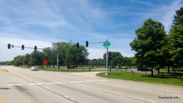 USA - przedmieścia Chicago - wjazd przy Busse Forest Elk Pasture - czerwiec 2013