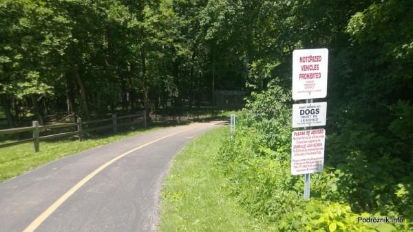 USA - przedmieścia Chicago - Busse Woods - ścieżka dla spacerowiczów i do jazdy rowerem - czerwiec 2013