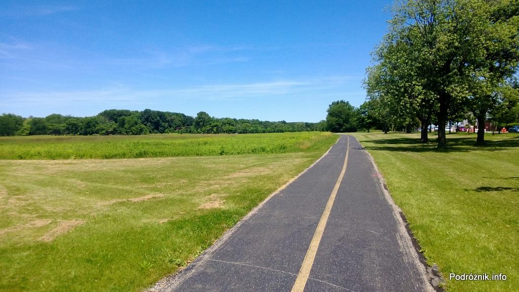 USA - przedmieścia Chicago - Busse Woods - ścieżka biegnąca przez pole - czerwiec 2013