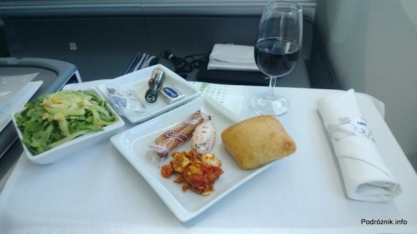 Polskie Linie Lotnicze LOT - Boeing 787 Dreamliner (SP-LRA) - Klasa Biznes (Elite Club) - przystawka - czerwiec 2013