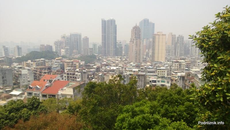 Chiny - Makao - panorama miasta - kwiecień 2013