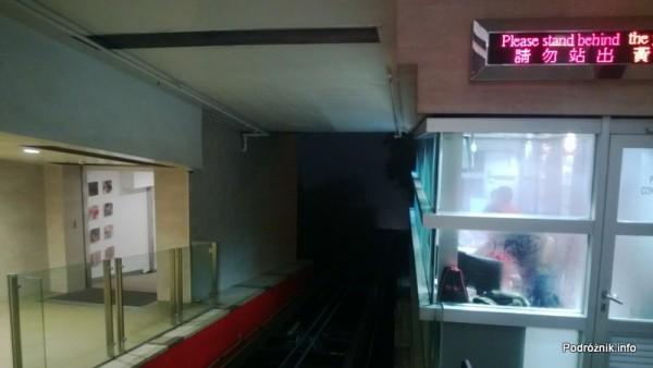 Chiny - Hongkong - Wzgórze Wiktorii (The Peak) - sterownia zabytkowego tramwaju - kwiecień 2013