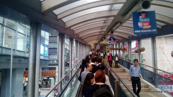 Chiny - Hongkong - najdłuższe na świecie schody ruchome - kwiecień 2013