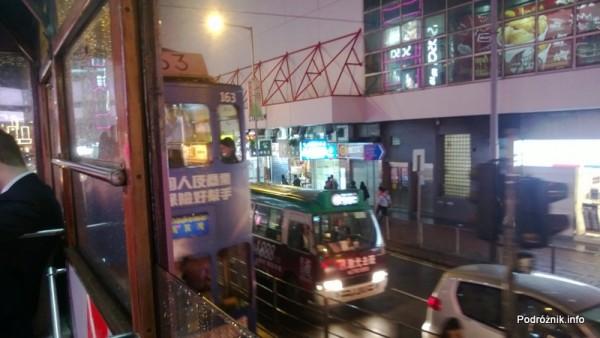 Chiny - Hongkong - widok z piętrowego tramwaju - kwiecień 2013