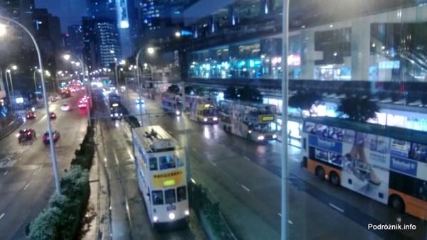 Chiny - Hongkong - piętrowe tramwaje nocą - kwiecień 2013