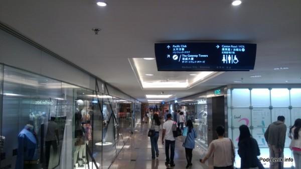 Chiny - Hongkong - korytarz w galerii handlowej - kwiecień 2013