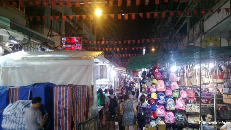 Chiny - Hongkong - bazar - uliczka - kwiecień 2013