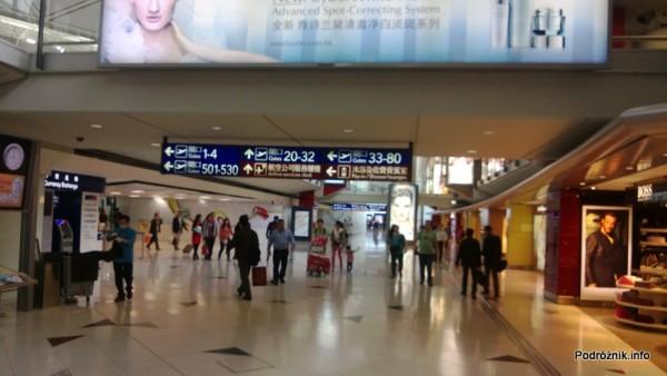 Chiny - Hongkong - lotnisko (Hong Kong International Airport HKG) - wnętrze terminala - kwiecień 2013