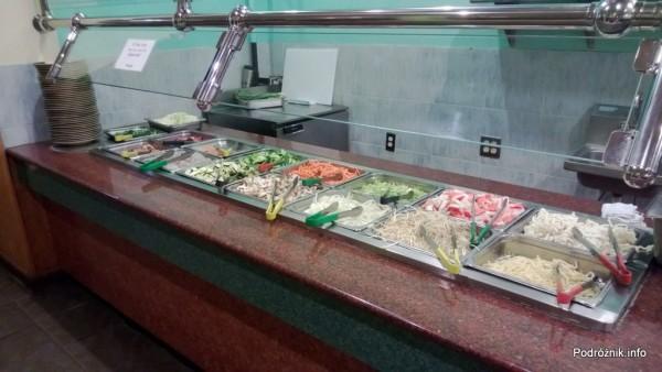 USA - Metairie przedmieścia Nowego Orleanu - Oki Nago Japanese Seafood Buffet - produkty do hibachi - czerwiec 2013