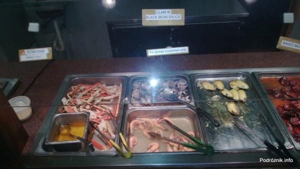 USA - Metairie przedmieścia Nowego Orleanu - Oki Nago Japanese Seafood Buffet -śnieżny krab oraz krewetki i małże zalane serem - czerwiec 2013