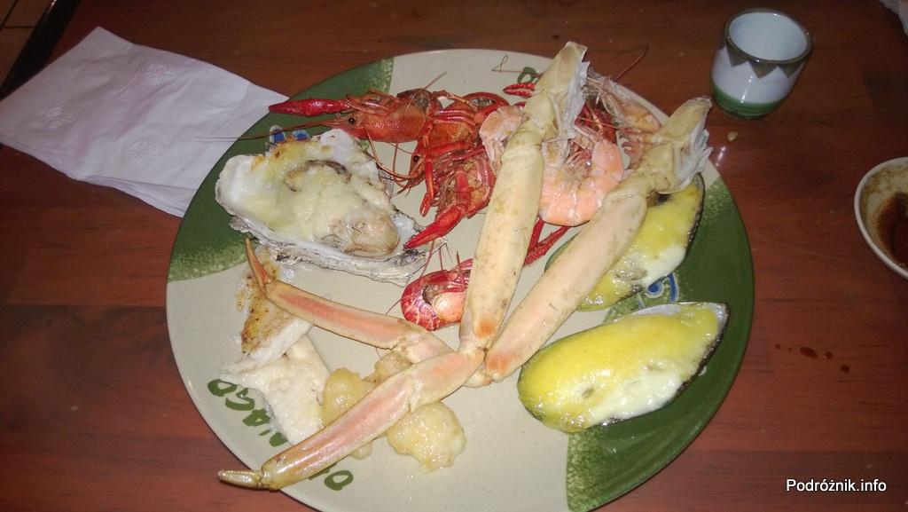 USA - Metairie przedmieścia Nowego Orleanu - Oki Nago Japanese Seafood Buffet - mój talerz z tym co lubię - czerwiec 2013