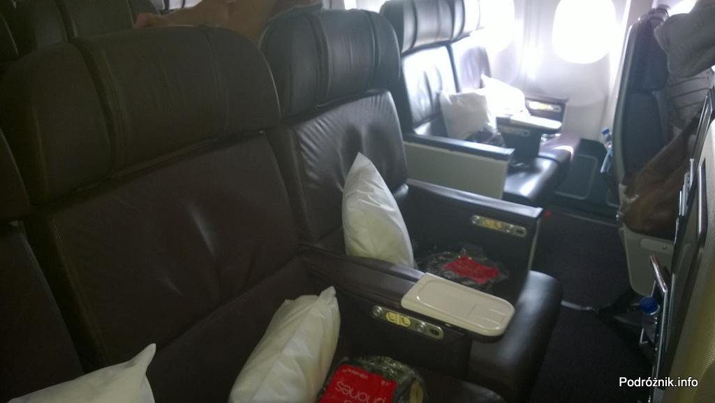 Virgin Atlantic (VS) - Airbus A330 - G-VWAG (Miss England) - wnętrze - fotele w klasie ekonomicznej premium - maj 2014
