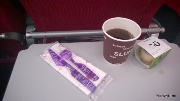 Virgin Atlantic (VS) - Airbus A330 - G-VWAG (Miss England) - herbata i słodki deser - maj 2014