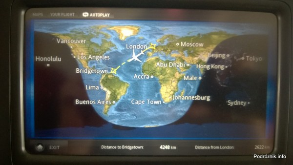 Virgin Atlantic (VS) - Airbus A330 - G-VWAG (Miss England) - trasa przelotu na tle kontynentów - maj 2014