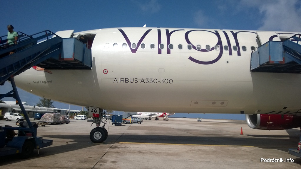 Barbados - Bridgetown - Lotnisko Grantley Adams International Airport (BGI) - Virgin Atlantic (VS) - Airbus A330 - G-VWAG (Miss England) - maj 2014