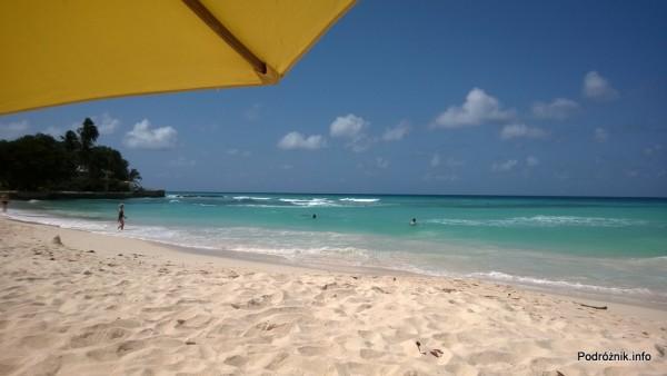 Barbados - Dover Beach - widok spod parasola - maj 2014