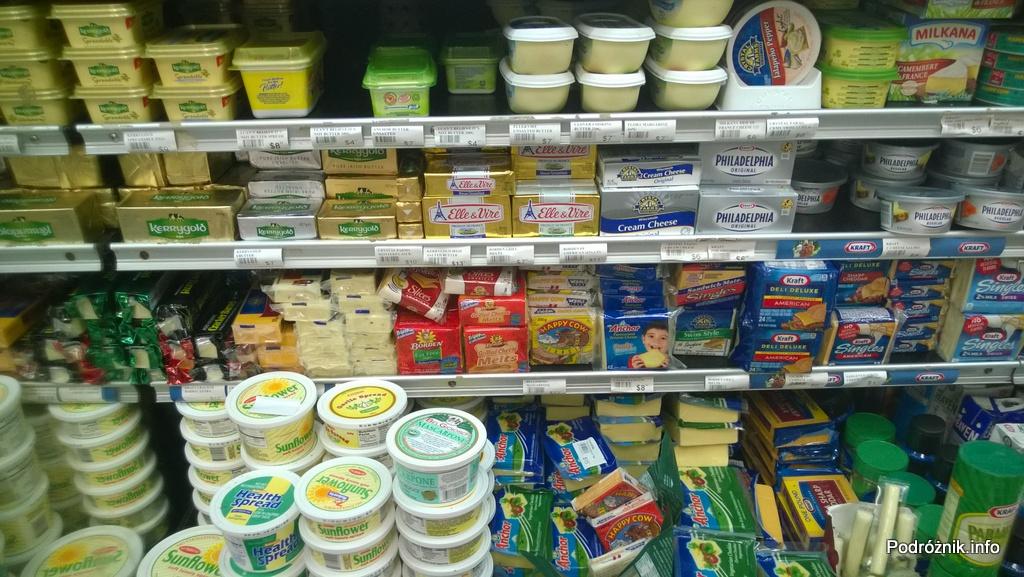 Barbados - przetwory mleczne w supermarkecie wraz z cenami - maj 2014