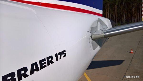 Polskie Linie Lotnicze LOT – Embraer 175 – SP-LIA - statecznik poziomy – wrzesień 2017
