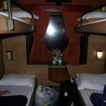 Wietnam - maj 2012 - pociąg z Ho Chi Minh (Sajgon) do Nha Trang - przedział w wagonie sypialnym