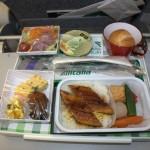 Alitalia - Boeing 777 - I-DISA - posiłek w japońskim stylu - sierpień 2012