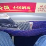 China Southern - Airbus 321 - CZ309 - B-6318 - Klasa ekonomiczna - Economy Class - wnętrze - odstęp między kolanami a poprzedzającym fotelem - kwiecień 2013