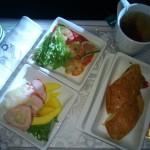 Polskie Linie Lotnicze LOT - Boeing 787 Dreamliner (SP-LRA) - Klasa Biznes (Elite Club) - jedzenie w samolocie - kolacja - czerwiec 2013